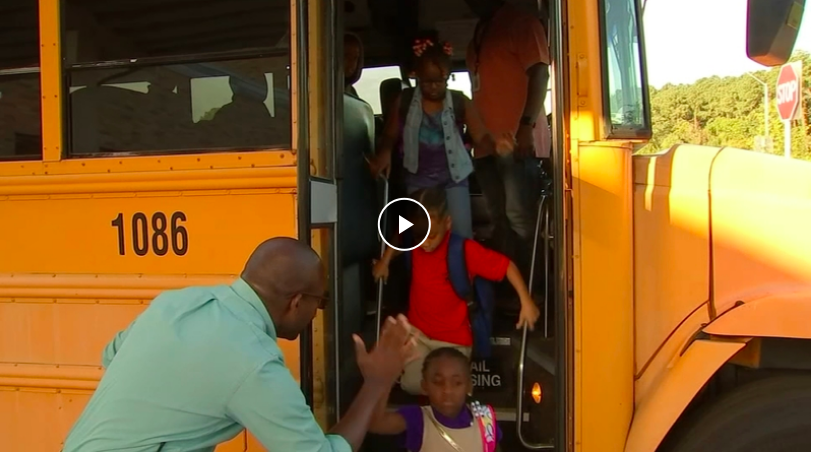 Warm welcomes encourage children on first day of school in Wake, Durham, Cumberland counties